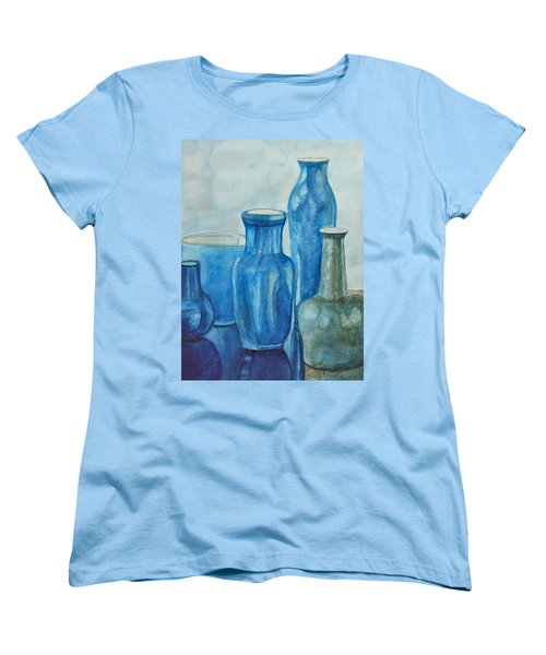 Blue Vases I Women's T-Shirt (Standard Cut)