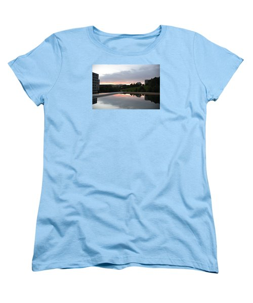 Women's T-Shirt (Standard Cut) featuring the photograph Blue Visions 2 by Teo SITCHET-KANDA