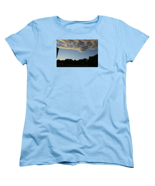 Women's T-Shirt (Standard Cut) featuring the photograph Blue Visions 4 by Teo SITCHET-KANDA