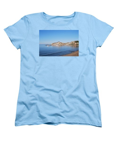 Women's T-Shirt (Standard Cut) featuring the photograph Blue Water by George Katechis