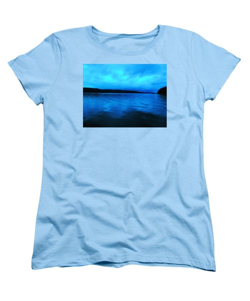 Blue Water In The Morn  Women's T-Shirt (Standard Cut) by Jeff Swan