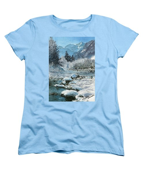 Blue Winter Women's T-Shirt (Standard Cut) by Mary Ellen Anderson