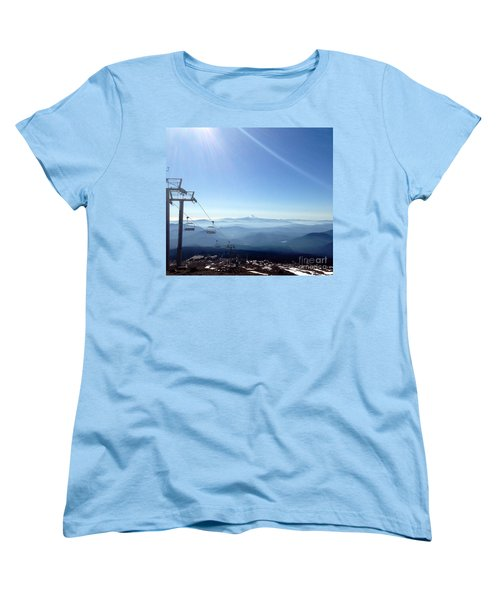 Blue Yonder Women's T-Shirt (Standard Cut) by Susan Garren