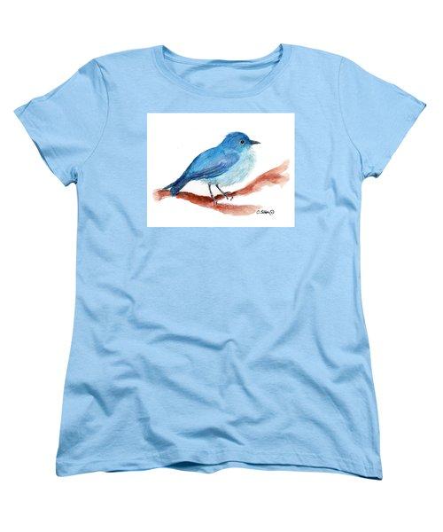 Women's T-Shirt (Standard Cut) featuring the painting Bluebird by C Sitton
