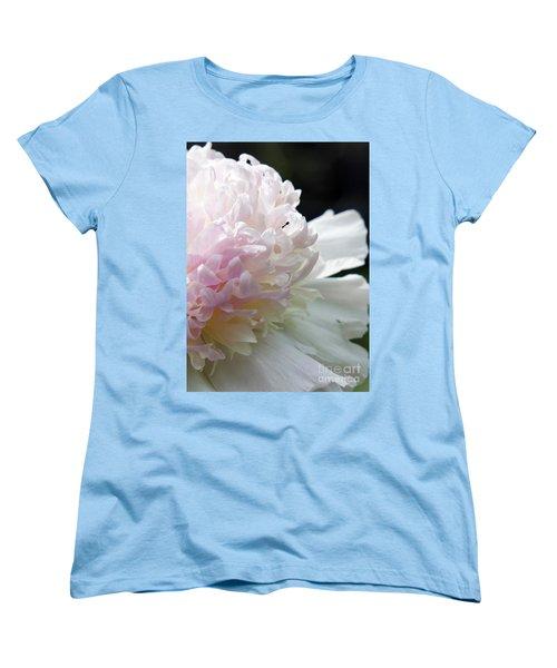 Blushing Peony  Women's T-Shirt (Standard Cut) by Lilliana Mendez