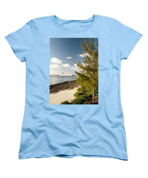 Women's T-Shirt (Standard Cut) featuring the photograph Boat In Port by Amar Sheow
