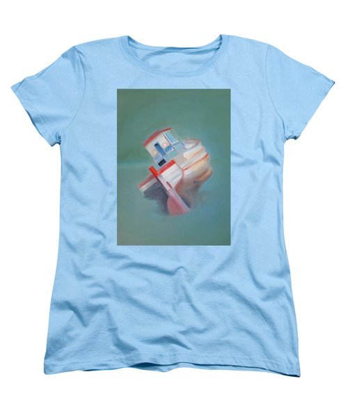 Women's T-Shirt (Standard Cut) featuring the painting Boat Retired  Tavira by Charles Stuart