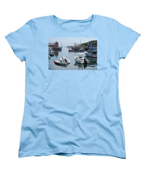 Women's T-Shirt (Standard Cut) featuring the photograph Boats On The Water by Eunice Miller