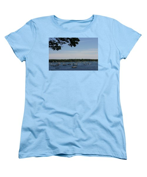 Boats At Rest Women's T-Shirt (Standard Cut) by Denyse Duhaime
