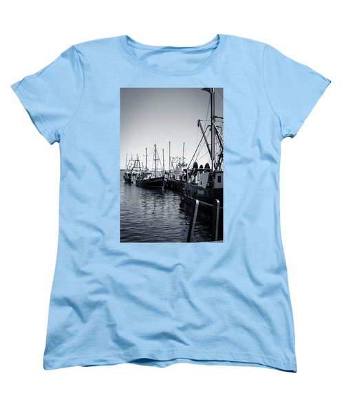 Boats At The Pier  Women's T-Shirt (Standard Cut) by Brian Caldwell
