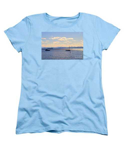 Boats On Lake Champlain Vermont Women's T-Shirt (Standard Cut)
