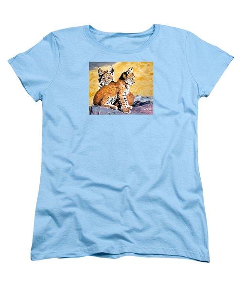 Bob Kittens Women's T-Shirt (Standard Cut) by Phyllis Kaltenbach