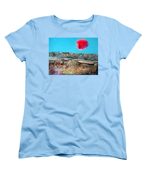 Women's T-Shirt (Standard Cut) featuring the painting Bogomil Sunrise 2 by Otto Rapp