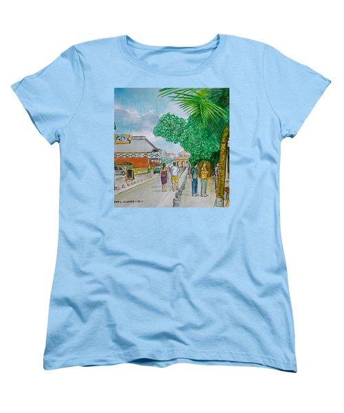 Bonaire Street Women's T-Shirt (Standard Cut) by Frank Hunter