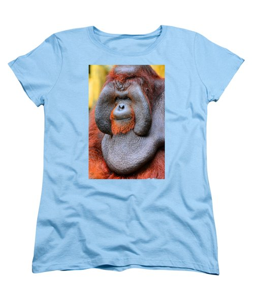 Bornean Orangutan Iv Women's T-Shirt (Standard Cut) by Lourry Legarde