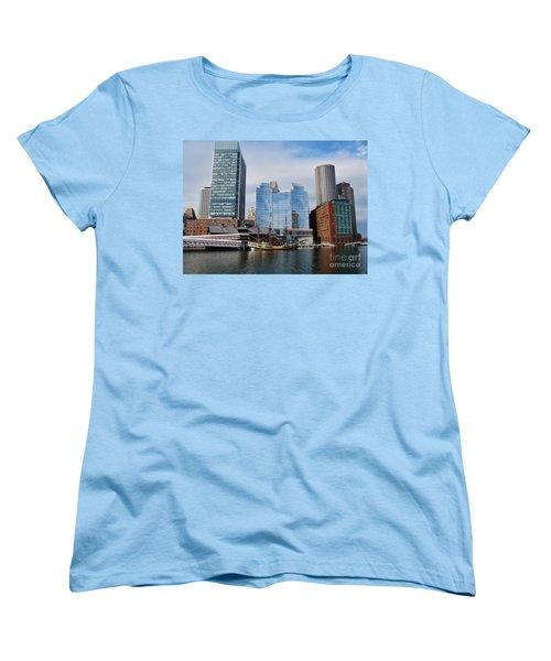 Boston Skyline I Women's T-Shirt (Standard Cut) by Barbara Bardzik