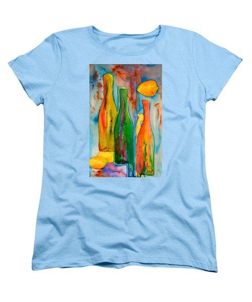 Bottles And Lemons Women's T-Shirt (Standard Cut) by Beverley Harper Tinsley