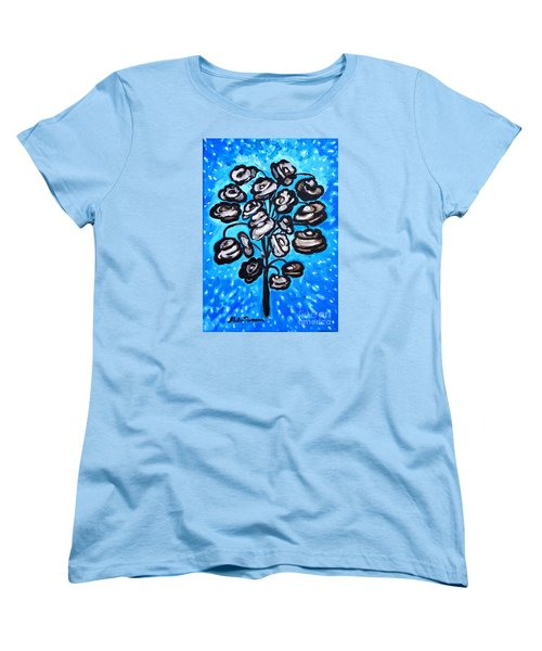 Bouquet Of White Poppies Women's T-Shirt (Standard Cut) by Ramona Matei