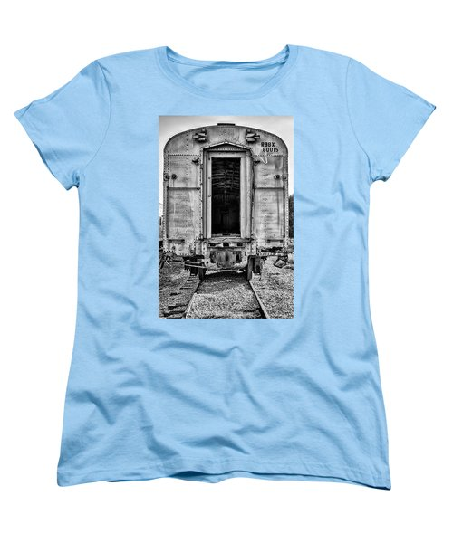 Box Car In Bw Women's T-Shirt (Standard Cut)