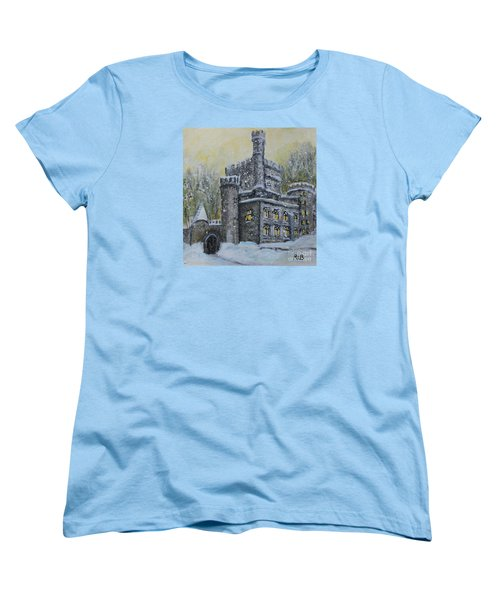 Brandeis University Castle Women's T-Shirt (Standard Cut) by Rita Brown