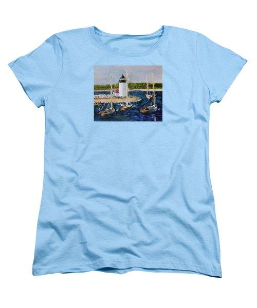 Brant Lighthouse Nantucket Women's T-Shirt (Standard Cut)