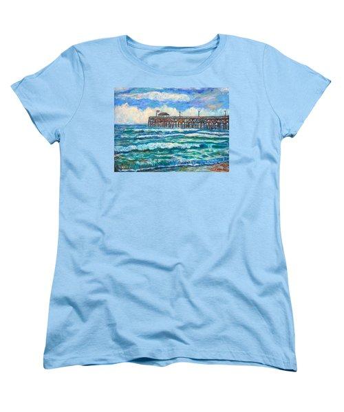 Breakers At Pawleys Island Women's T-Shirt (Standard Cut) by Kendall Kessler