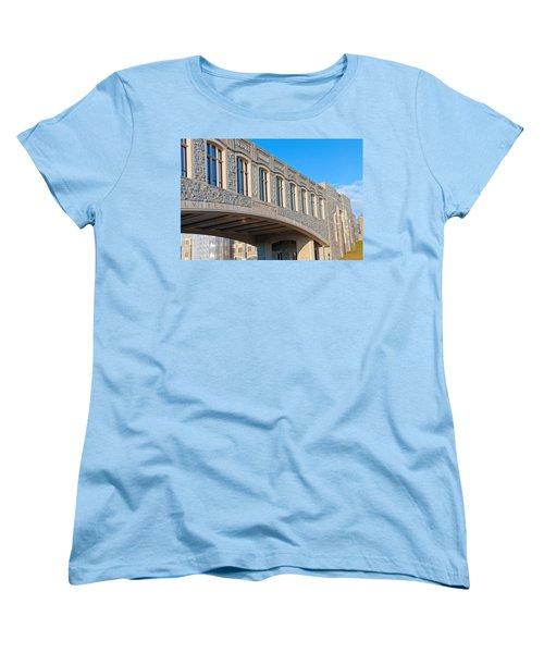 Bridge At Virginia Tech Women's T-Shirt (Standard Cut) by Melinda Fawver