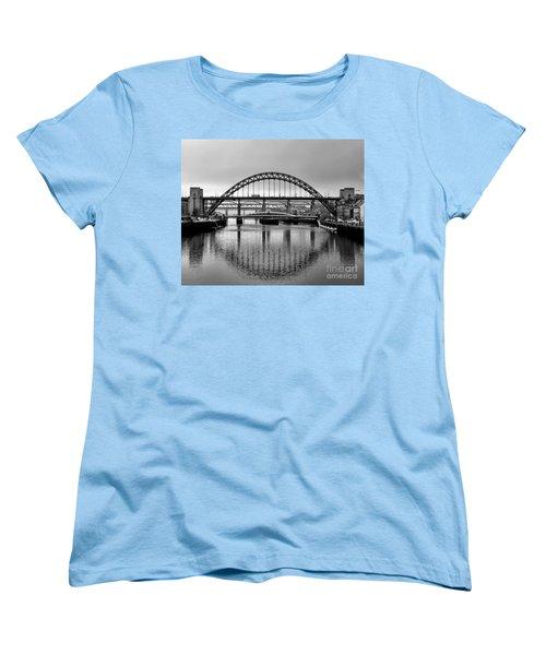 Bridges Over The River Tyne Women's T-Shirt (Standard Cut) by Lynn Bolt