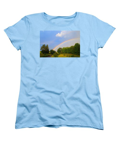 Women's T-Shirt (Standard Cut) featuring the photograph Bright Rainbow by Kathryn Meyer