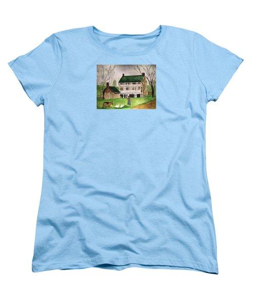 Bringing Home The Ducks Women's T-Shirt (Standard Cut) by Angela Davies