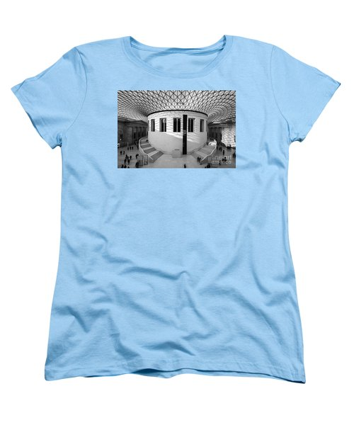 Women's T-Shirt (Standard Cut) featuring the photograph British Museum Black And White by Matt Malloy