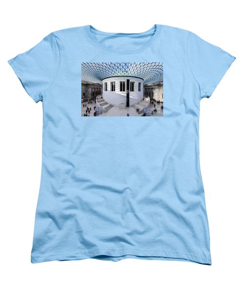 Women's T-Shirt (Standard Cut) featuring the photograph British Museum Color by Matt Malloy