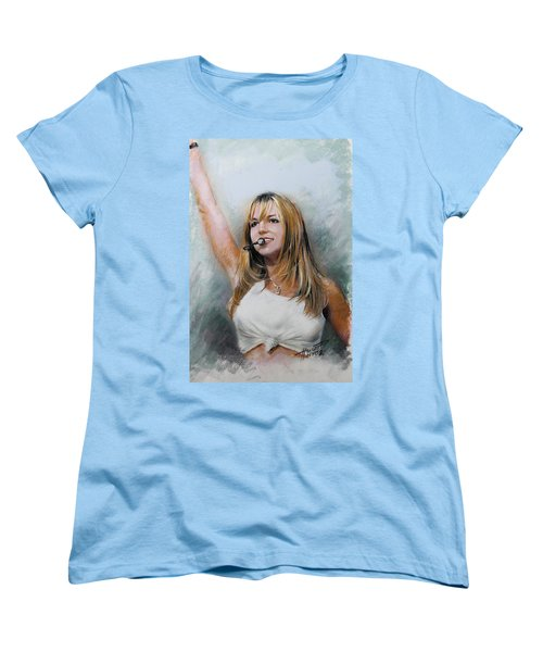 Britney Spears Women's T-Shirt (Standard Cut) by Viola El