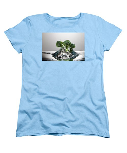 Broccoli Freshsplash Women's T-Shirt (Standard Cut) by Steve Gadomski
