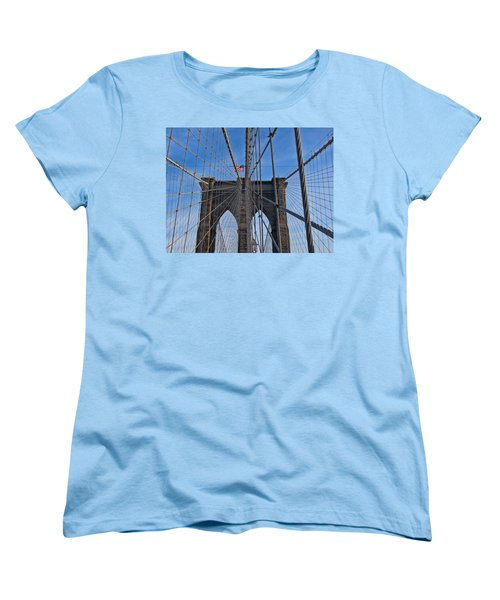 Women's T-Shirt (Standard Cut) featuring the photograph Brooklyn Bridge by David Gleeson