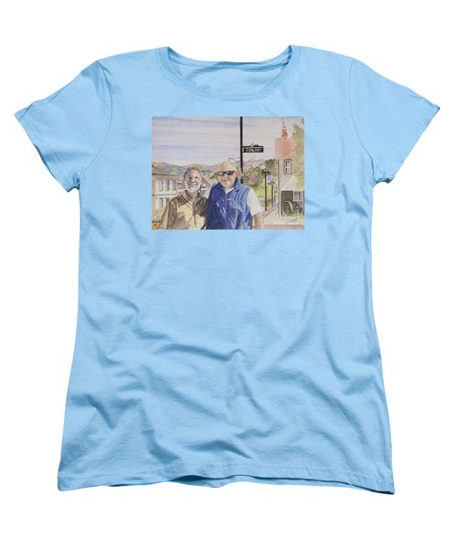 Women's T-Shirt (Standard Cut) featuring the painting Bros by Carol Flagg