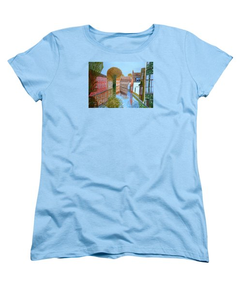 Brugge Canal Women's T-Shirt (Standard Cut) by Magdalena Frohnsdorff