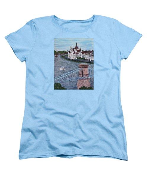 Budapest Bridge Women's T-Shirt (Standard Cut)