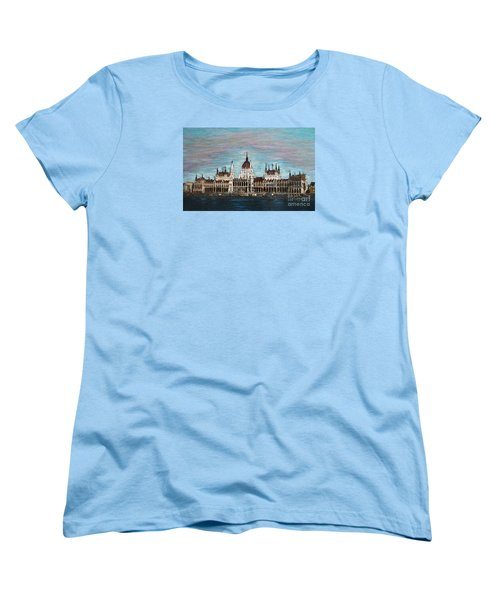 Budapest Parliament By Jasna Gopic Women's T-Shirt (Standard Cut) by Jasna Gopic