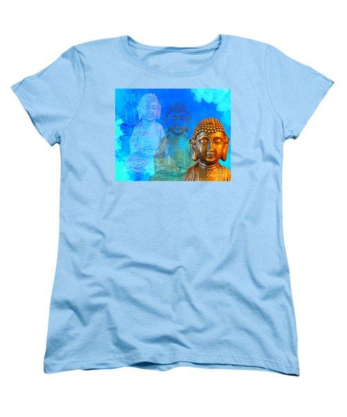 Women's T-Shirt (Standard Cut) featuring the sculpture Buddha's Thoughts by Ginny Gaura