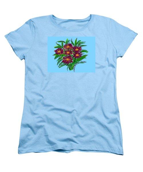 Women's T-Shirt (Standard Cut) featuring the digital art Bunch Of Daisies by Christine Fournier