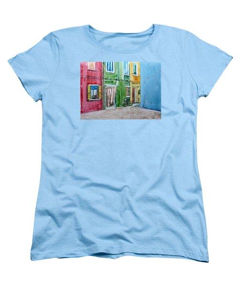 Burano Women's T-Shirt (Standard Cut) by Anna Ruzsan