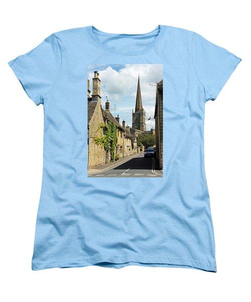 Burford Village Street Women's T-Shirt (Standard Cut) by Tony Murtagh