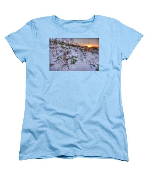 Women's T-Shirt (Standard Cut) featuring the digital art Buried Fences by Michael Thomas