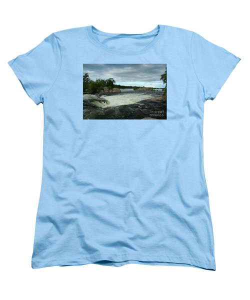Women's T-Shirt (Standard Cut) featuring the photograph Burleigh Falls by Barbara McMahon