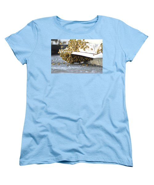 Women's T-Shirt (Standard Cut) featuring the painting Busy Bees by Laura Forde