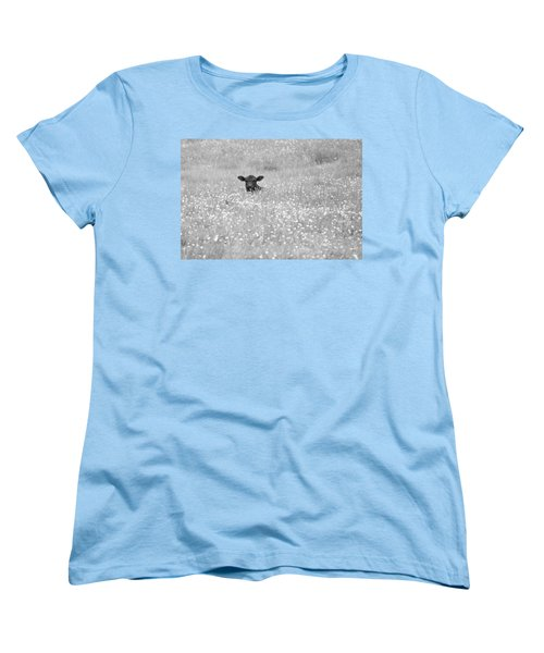 Buttercup In Black-and-white Women's T-Shirt (Standard Cut) by JD Grimes