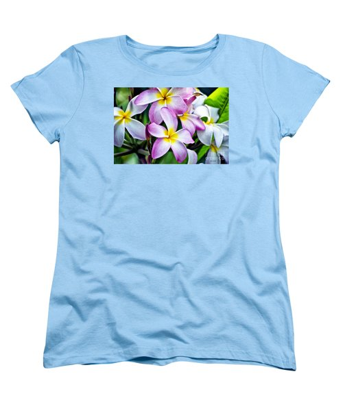 Women's T-Shirt (Standard Cut) featuring the photograph Butterfly Flowers by Thomas Woolworth