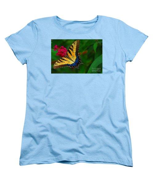 Women's T-Shirt (Standard Cut) featuring the photograph Butterfly by Geraldine DeBoer