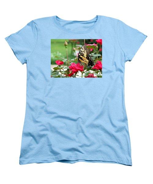 Women's T-Shirt (Standard Cut) featuring the photograph Butterfly Rose by Greg Simmons